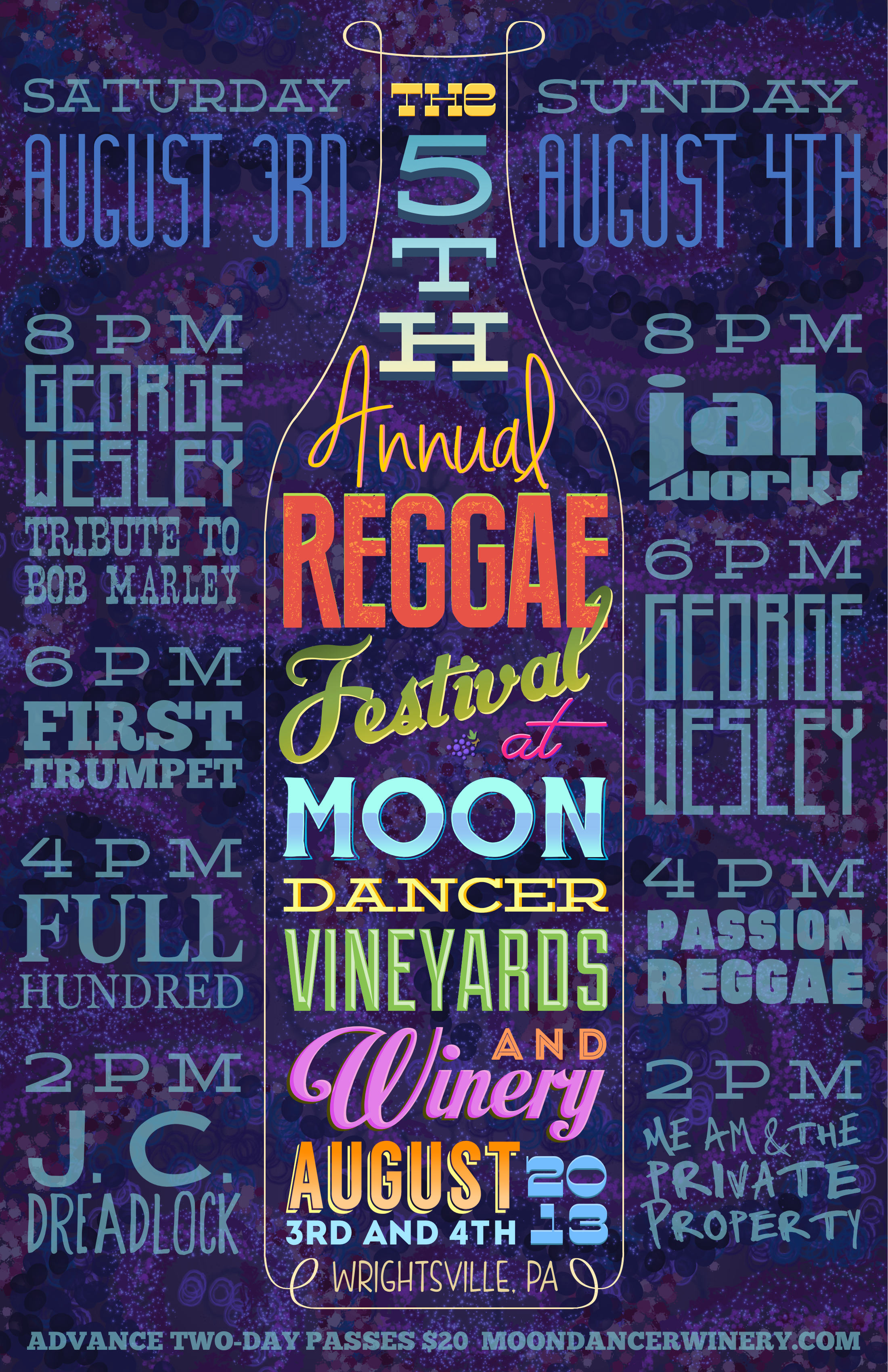 Reggae Festival @ Moon Dancer Winery by Corey Salzano